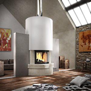 Transparent fireplaces
