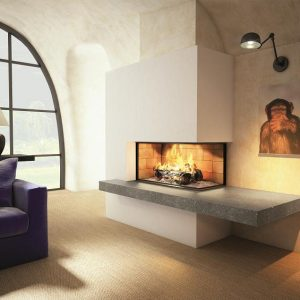 Corner fireplaces