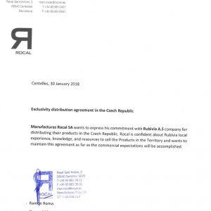 Rubivia je exkluzivním partnerem společnosti Rocal pro ČR !!! - 1
